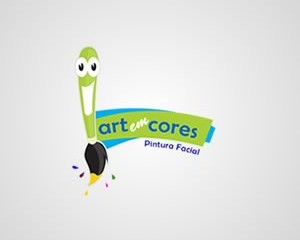 Logotipo Art em Cores Pintura Facial