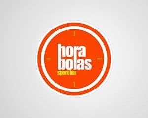 Logotipo Hora Bolas Sport Bar