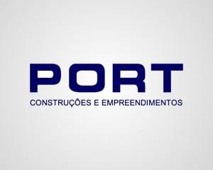 Logotipo Port Construções e Empreendimentos