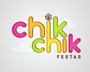 Logotipo Chik Chik festas